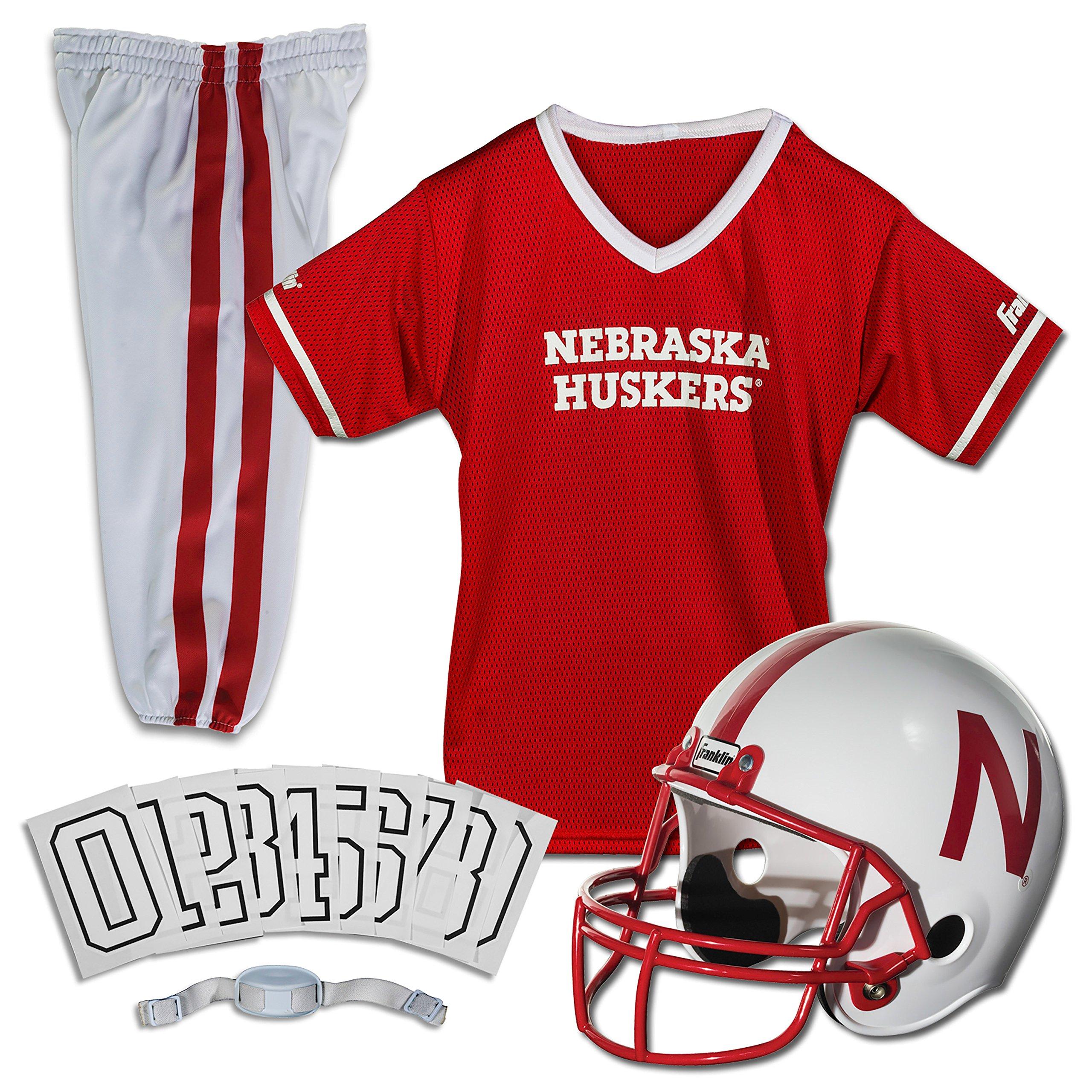 Franklin Sports NCAA Nebraska Cornhuskers Deluxe Youth Team Uniform Set, Small
