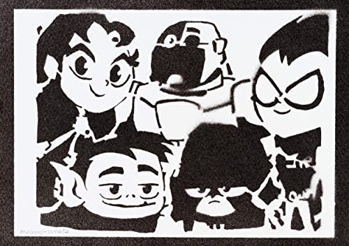 Póster Jóvenes Titanes Teen Titans Go! Grafiti Hecho A Mano ...
