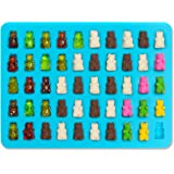 Lucentee Gummy Bears Molds for Hard Candy & Chocolate Making- Silicone Soap and Ice Cube Trays- Party Buffet, Baking, Wedding Favor Maker & Baby Shower Supplies - Novelty / Silly Shapes - 50 Cavity