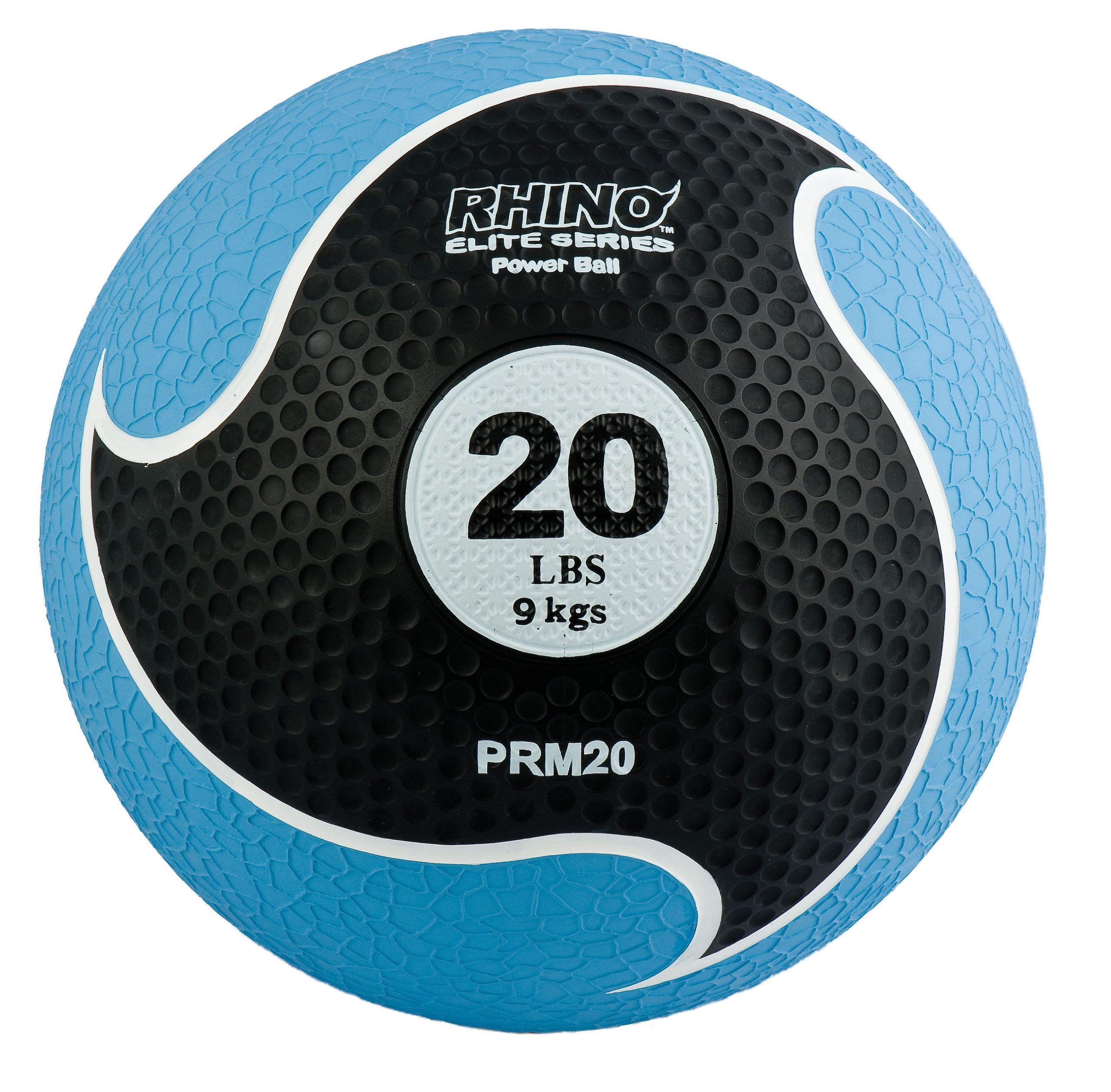 Champion Sports Rhino Elite Medicine Ball (20 pounds), Blue