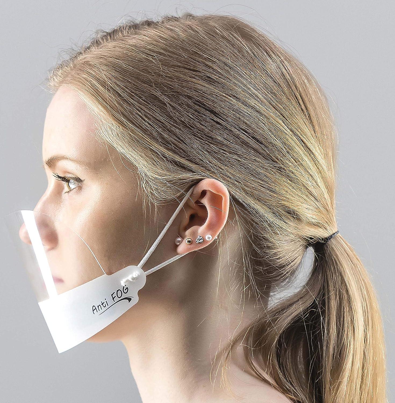 5X Visier Gesichtsschutz Gesichtsvisier Gesichtsschutzschild Anti-Fog Face Shield KEIN BESCHLAGEN Weiss