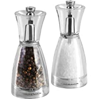 Cole & Mason 31250 C&M Pina Salt and Pepper Mill Gift Set, Clear/Silver