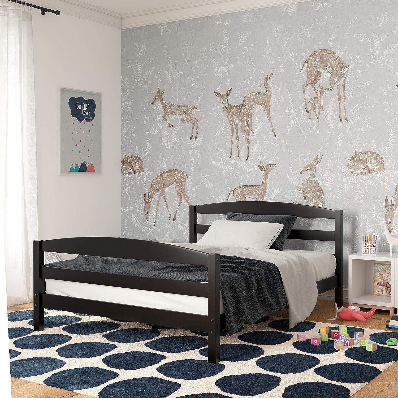 Dorel Living Palm Bay Wood, Bedroom Furniture, Full Size Frame, Black Bed