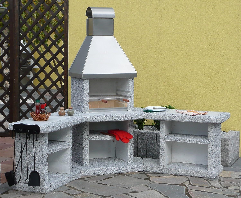 Toscane acier inoxydable Barbecue cheminée extérieur Cuisine