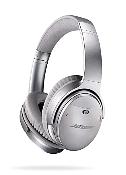 d6d094c9684 Amazon.com: Bose QuietComfort 35 (Series I) Wireless Headphones, Noise  Cancelling - Silver: Electronics