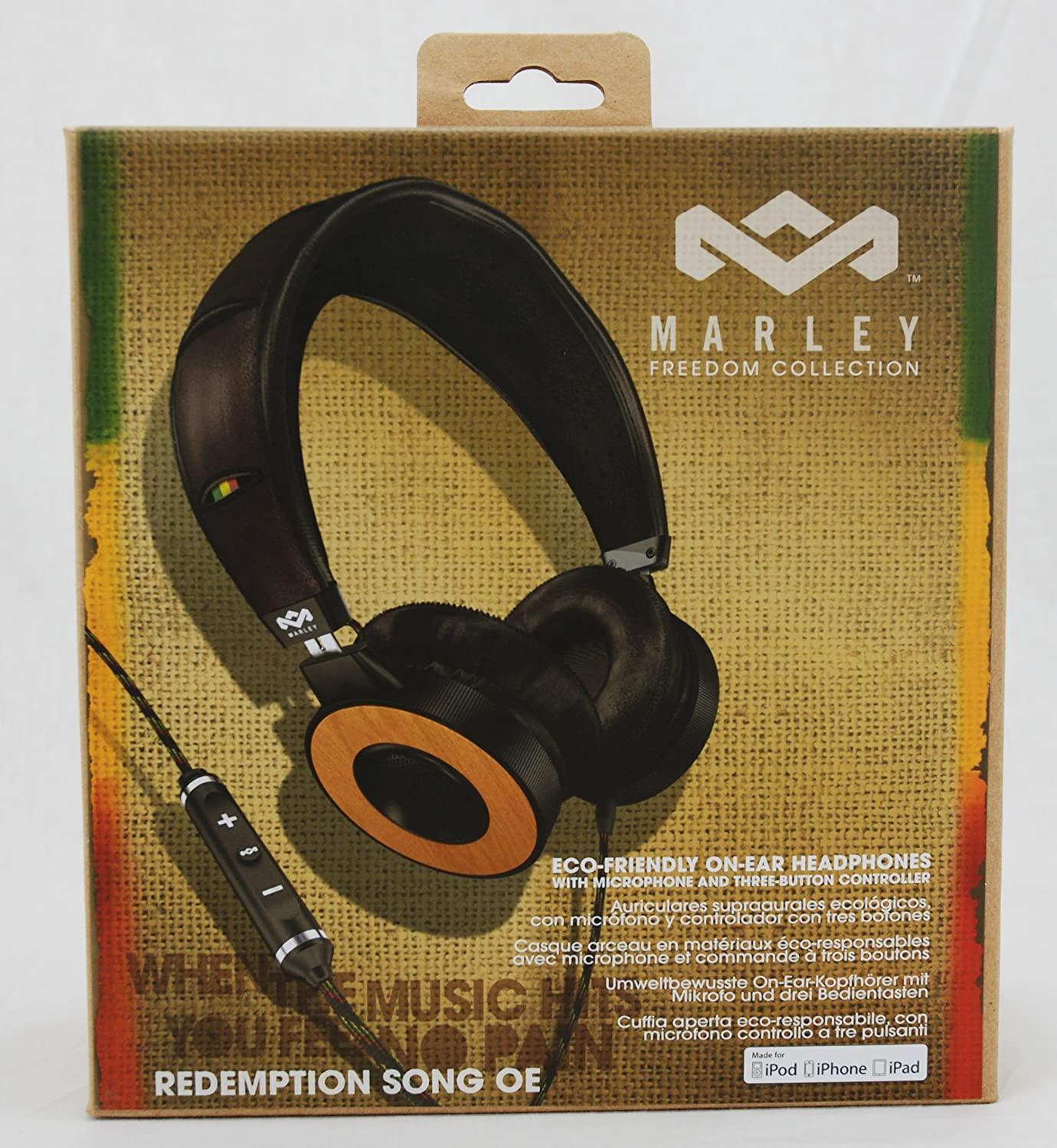 Amazon.com  House of Marley EM-FH023-HA Redemption Song On-Ear Headphones   Home Audio   Theater 675f250b2d77