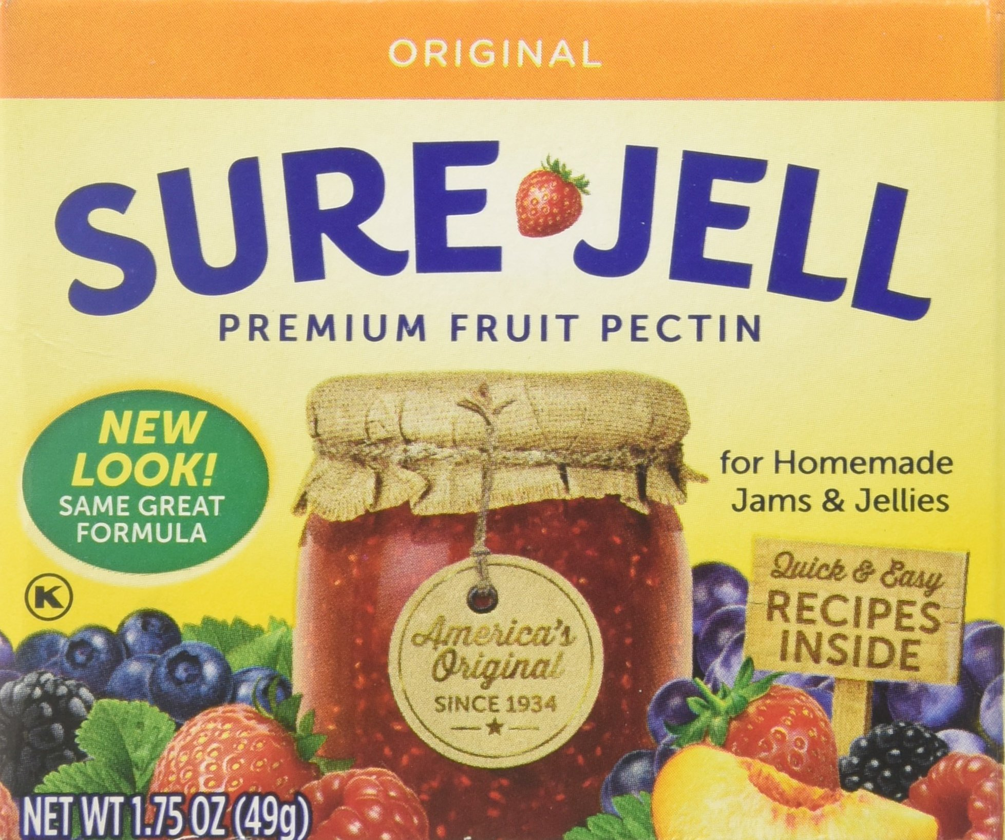 Sure Jell Premium Fruit Pectin, 8 Count, 14 Ounce