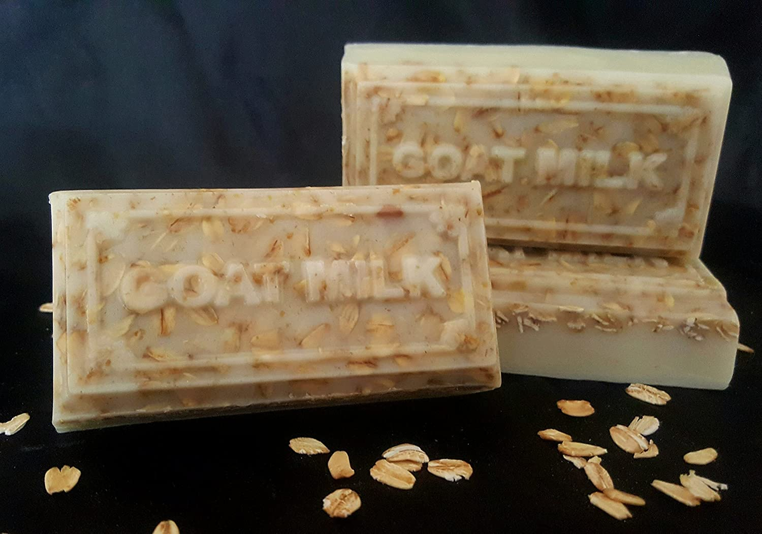 Pack of 4, All Natural Soaps Moisturizing No Harsh Chemicals, made with real ingredients, Goat Milk & Oatmeal, Shea Butter & Organic Extra Virgin Olive Oil, ...