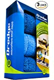 "3-Pack 15.5"" Drag Resistant Microfiber mop pad refills for hardwood tile laminate and stone floors. DREDGE replacement pads. Best all in one multi-task reusable floor care kit 