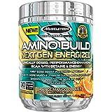 MuscleTech Amino Build Next Gen Energized, Best BCAA Amino Acids Formula with Energy, Orange Mango Cooler, 9.92 oz. (281g)