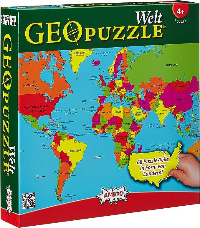 Amigo 00381 Geo Puzzle - Mundo: Amazon.es: Juguetes y juegos