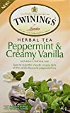 Twinings of London Peppermint and Creamy Vanilla Herbal Tea Bags, 20 Count
