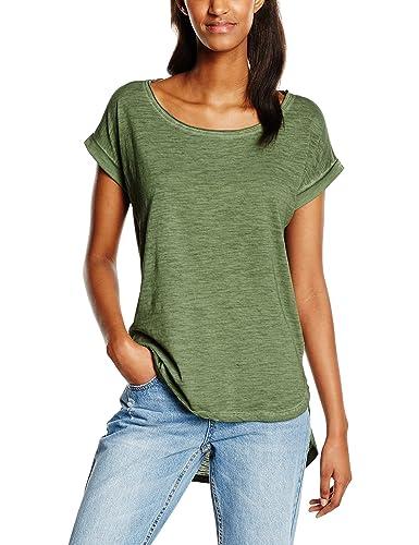 Urban Classics Ladies Long Back Shaped Spray Dye Tee, Camiseta para Mujer