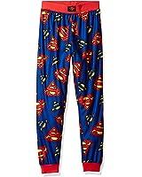 DC Comics Big Boys' Superman Logo Jogger Lounge Pant