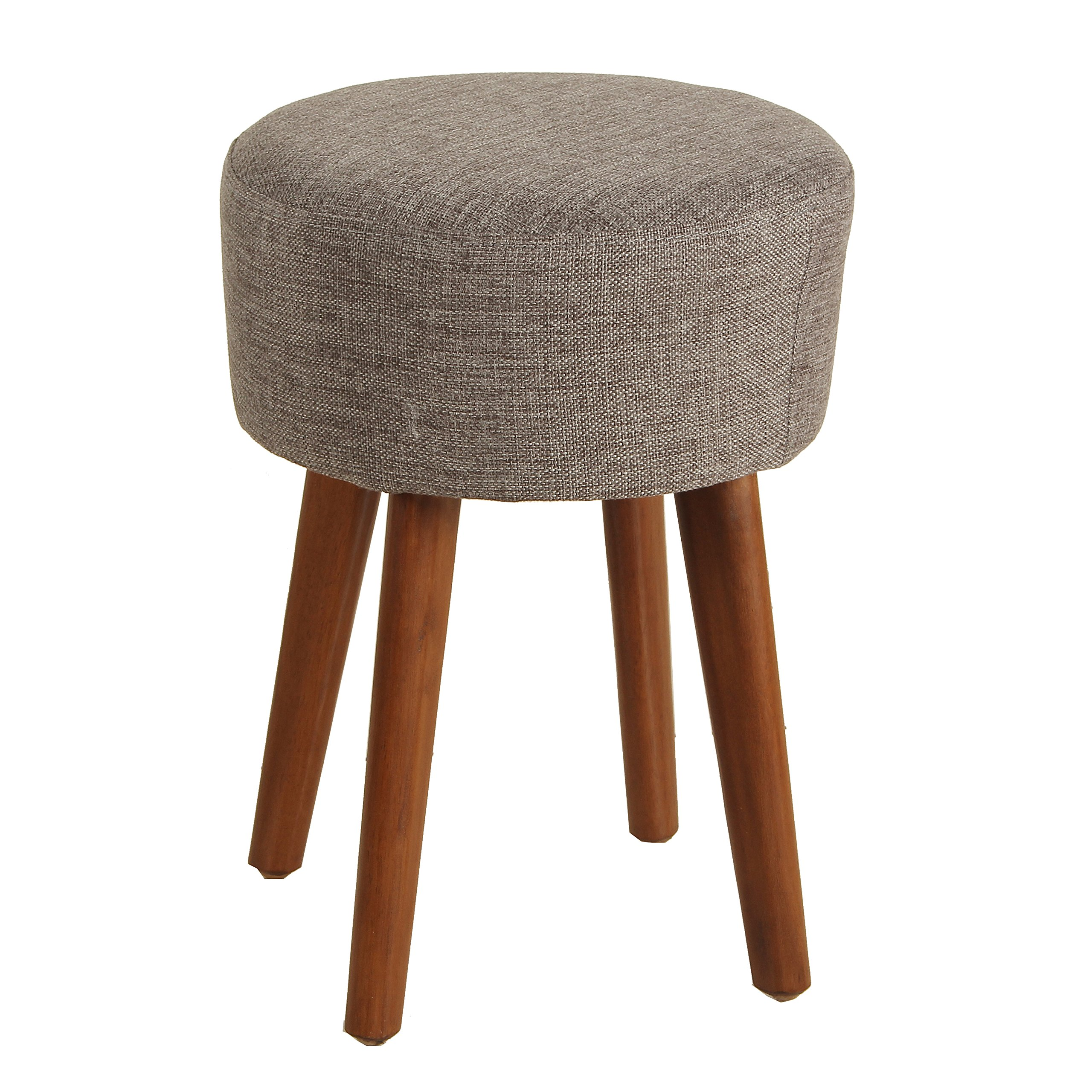 Porthos Home Wallace Upholstered Stool, Medium, Gray