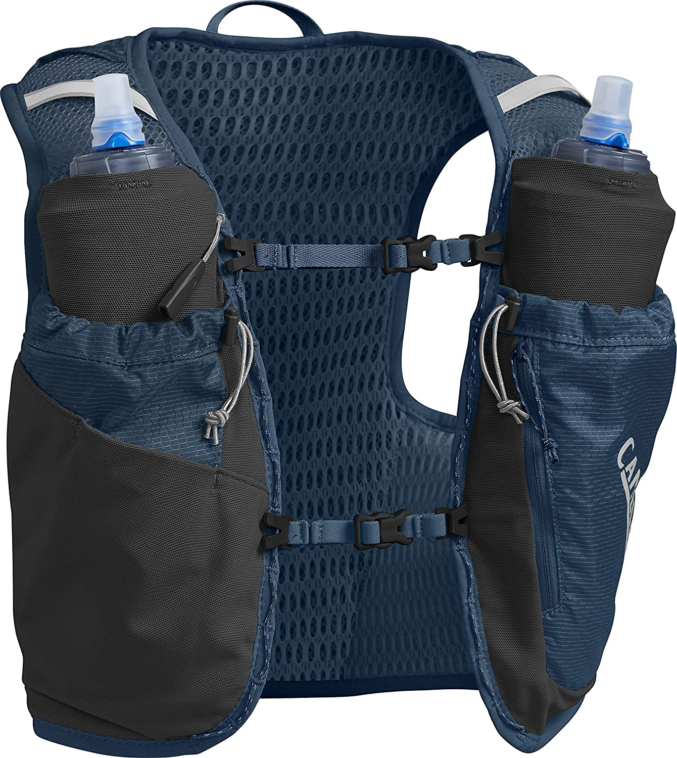 CamelBak Women s Ultra Pro Running Hydration Vest – 3D Micro Mesh – Two 500-ml Quick Stow Flasks – Dual Adjustable Sternum Straps – Secure Phone Pocket – Running Vest – 34 Ounces