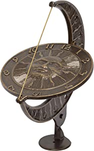 Whitehall Products Sun and Moon Sundial, French Bronze