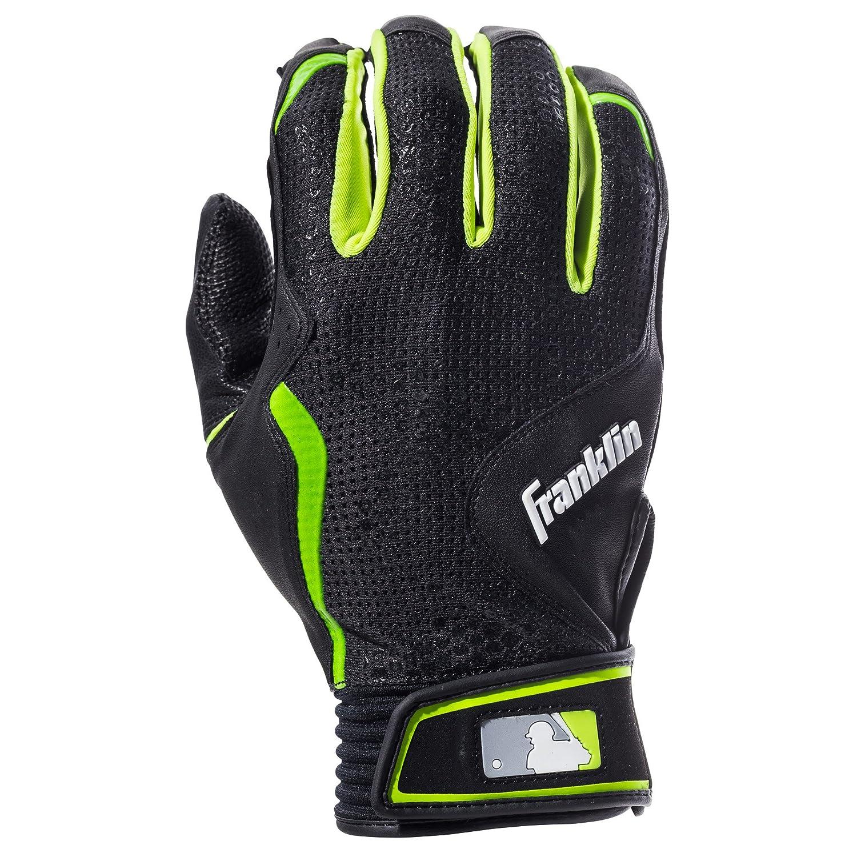 フランクリンスポーツMLB Freeflexシリーズバッティング手袋 B01ITQOAJ8  ブラック/ブラック Adult X-Large