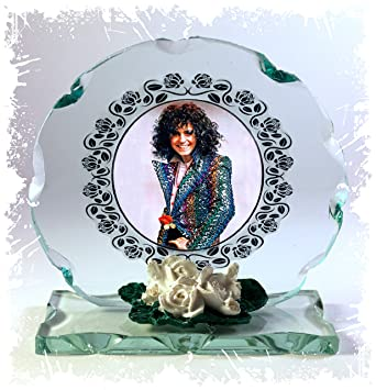 afcbef2c39b9 Mark Bolan, T.Rex, Ride A White Swan, Cut Glass Round Plaque, White  Porcelain Roses, Limited Edition #1: Amazon.co.uk: Office Products