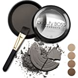 Eyebrow Powder Water Resistant Makeup for Brows Filler for a Natural and Soft Effect Soft Charcoal Color + Angled Brush
