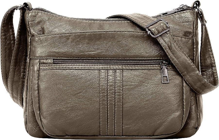 Women Crossbody Bag Pocketbooks Soft PU Leather Purses and Handbags Multi Poc...
