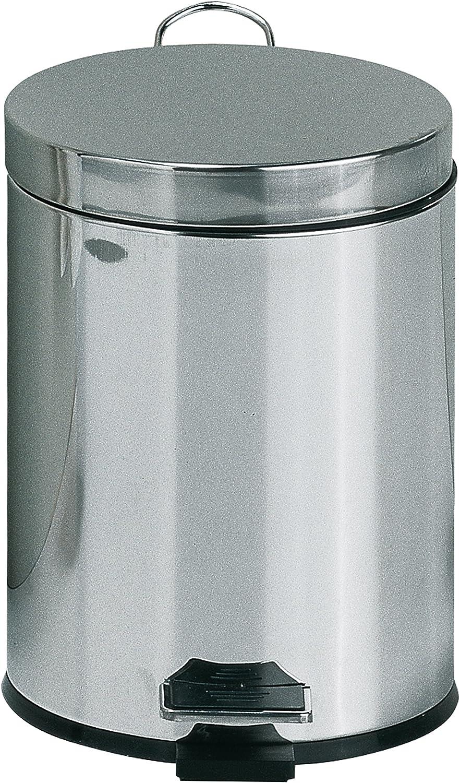 Cubo de Basura con Rueda Cubo de pl/ástico con Pedal Bot/ón pulsador Reciclaje de Doble Compartimento Bote de Basura para Cocina Blanco 42L