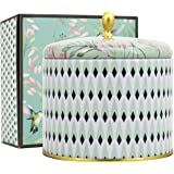 LA JOLIE MUSE White Tea Scented Candles 14Oz Aromatherapy Large Tin Candle 2 Wicks Natural Wax, Gift Candle for Mothers Day