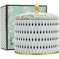 La Jolíe Muse Bougie Parfumée Cadeau de Noël Fête Grandes 400g Bougie 100% Soy Wax Cire De Thé Blanc Naturelle 2 Mèches De Canette 95 Heures