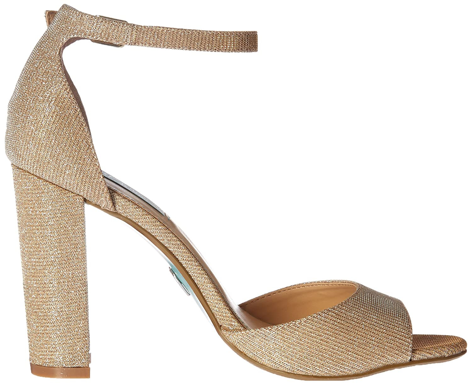Betsey Johnson Blue Women's Sb-Carly Dress Sandal B(M) B0198WKLJK 7 B(M) Sandal US|Gold 773dcd