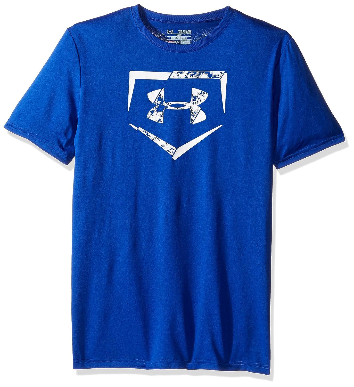 Under Armour Boys 'ダイヤモンドロゴTシャツ B018S4NWFOロイヤル/ホワイト Youth X-Small