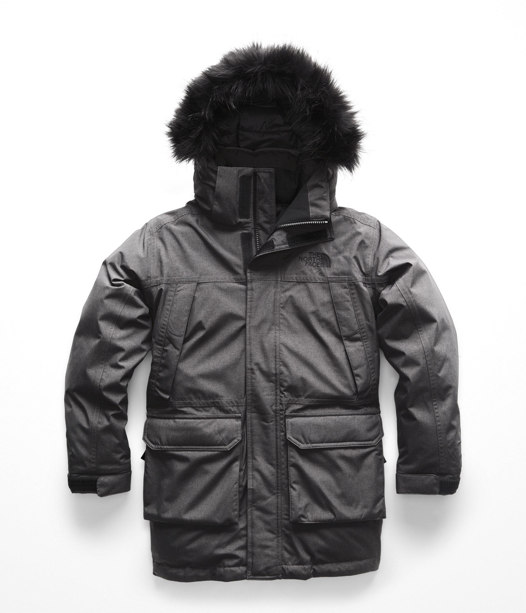 The North Face Boy's McMurdo Down Parka - TNF Medium Grey Heather - M