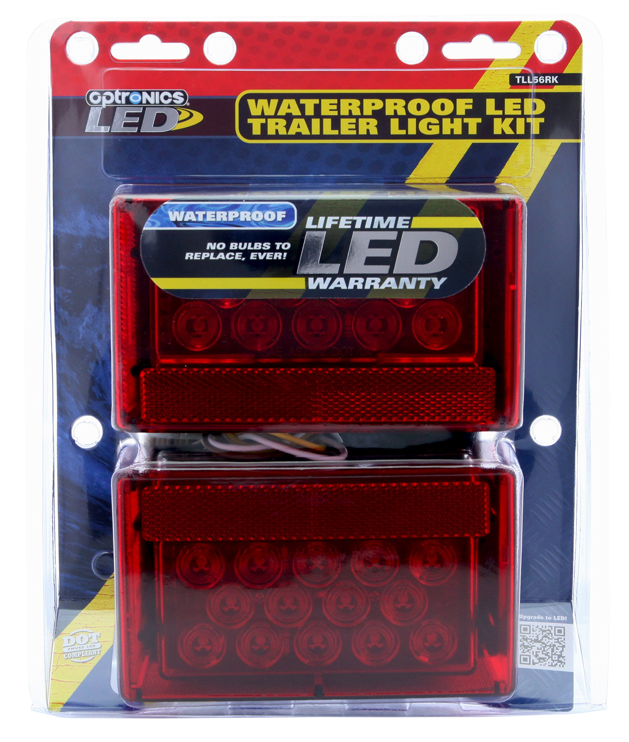 Optronics TLL56RK Red Rectangular LED Combination Tail Light Kit
