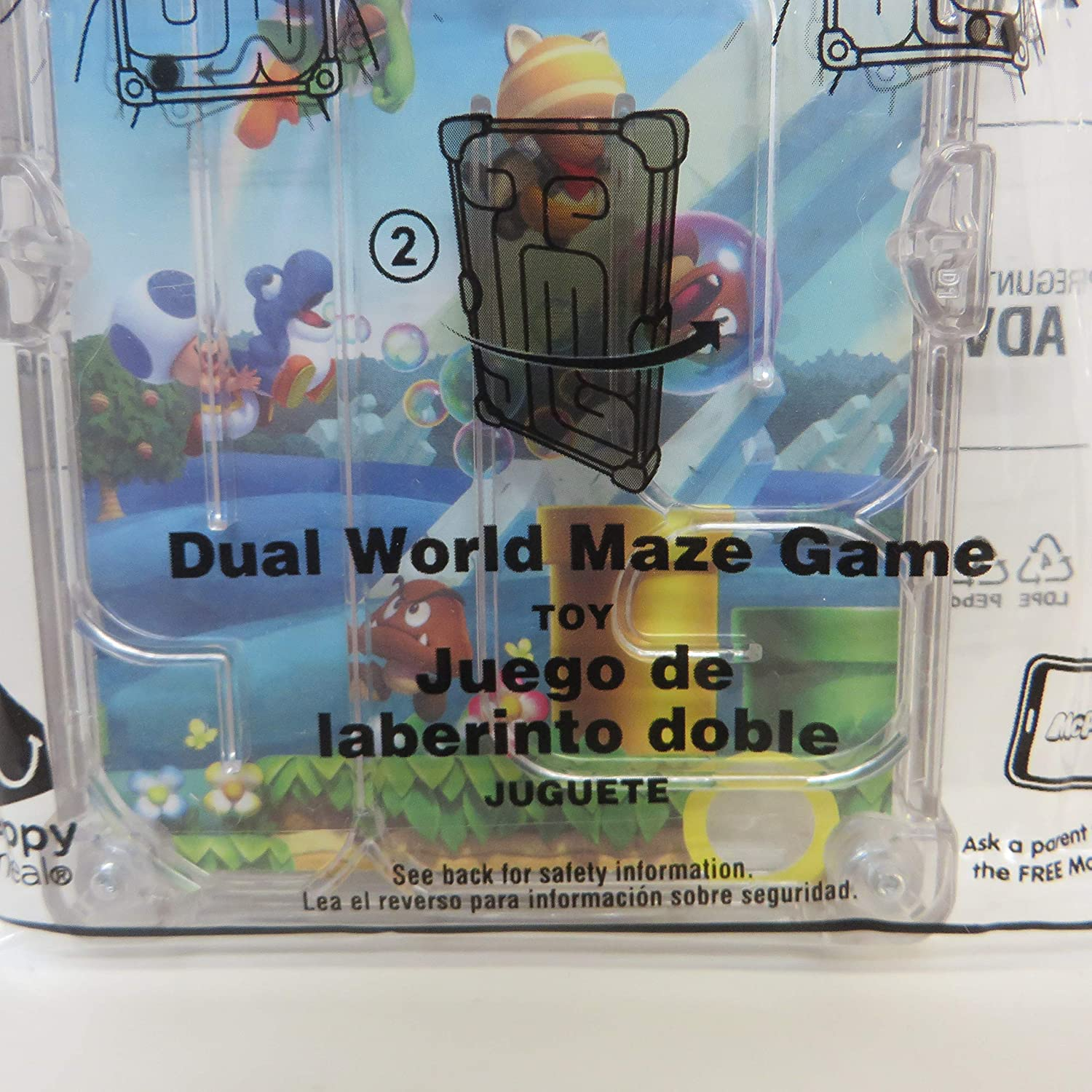 McDonald/'s Happy Meal Toy 2018 Super Mario #8 Dual World Maze Game