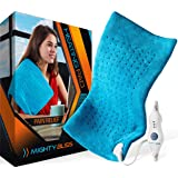 "MIGHTY BLISS Large Electric Heating Pad for Back Pain and Cramps Relief -Extra Large [12""x24""] - Auto Shut Off - Heat…"