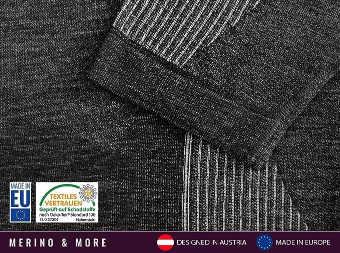T-shirt fonctionnel Merino /& More T-shirt fonctionnel en laine m/érinos pour homme Sous-v/êtement /à manches courtes