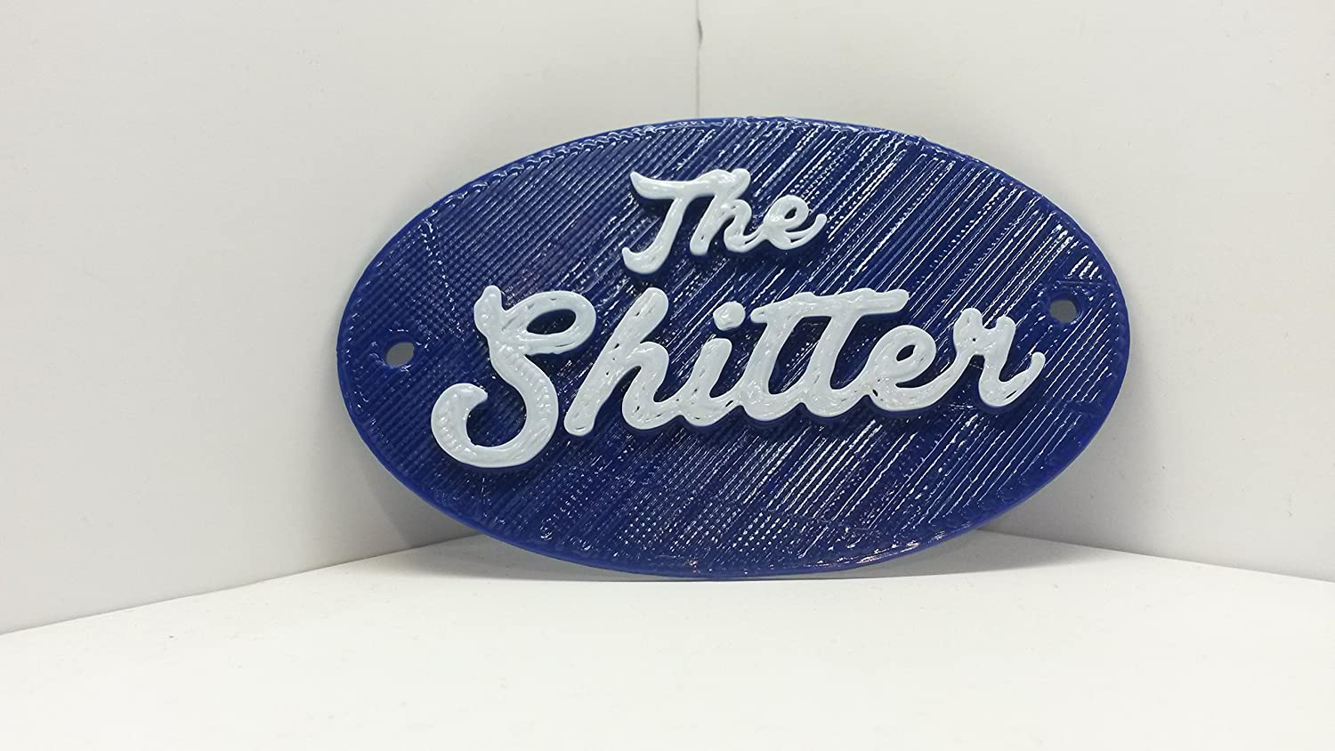 The Shitter Water Closet Toilet Bathroom Door Sign   Vintage Antique  Distressed Shabby Chic Style Loo Home Decor Faux Cast Iron: Amazon.co.uk:  Kitchen U0026 ...