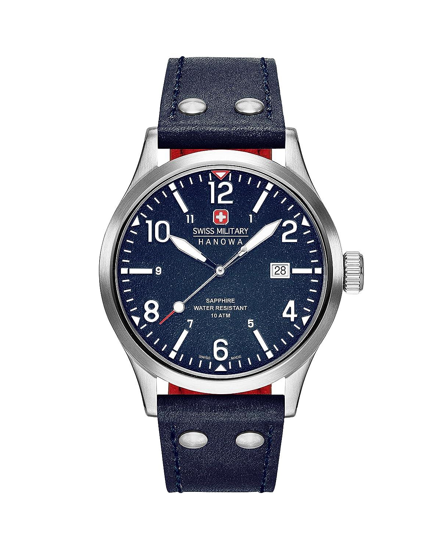 Swiss Military Hanowa–Reloj analógico de Cuarzo para Hombre con Correa de Piel 06–4280.04.003CH