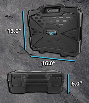 CASEMATIX Carry Case with Customizable Foam Compatible with Oculus Quest VR Headset and Quest Controllers - Impact Protection