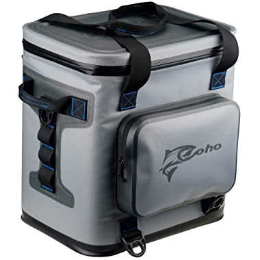 Coho Soft Sided Insulated Cooler - Fits 24 Cans + Ice - 14.37  x 12.01  x 15.16