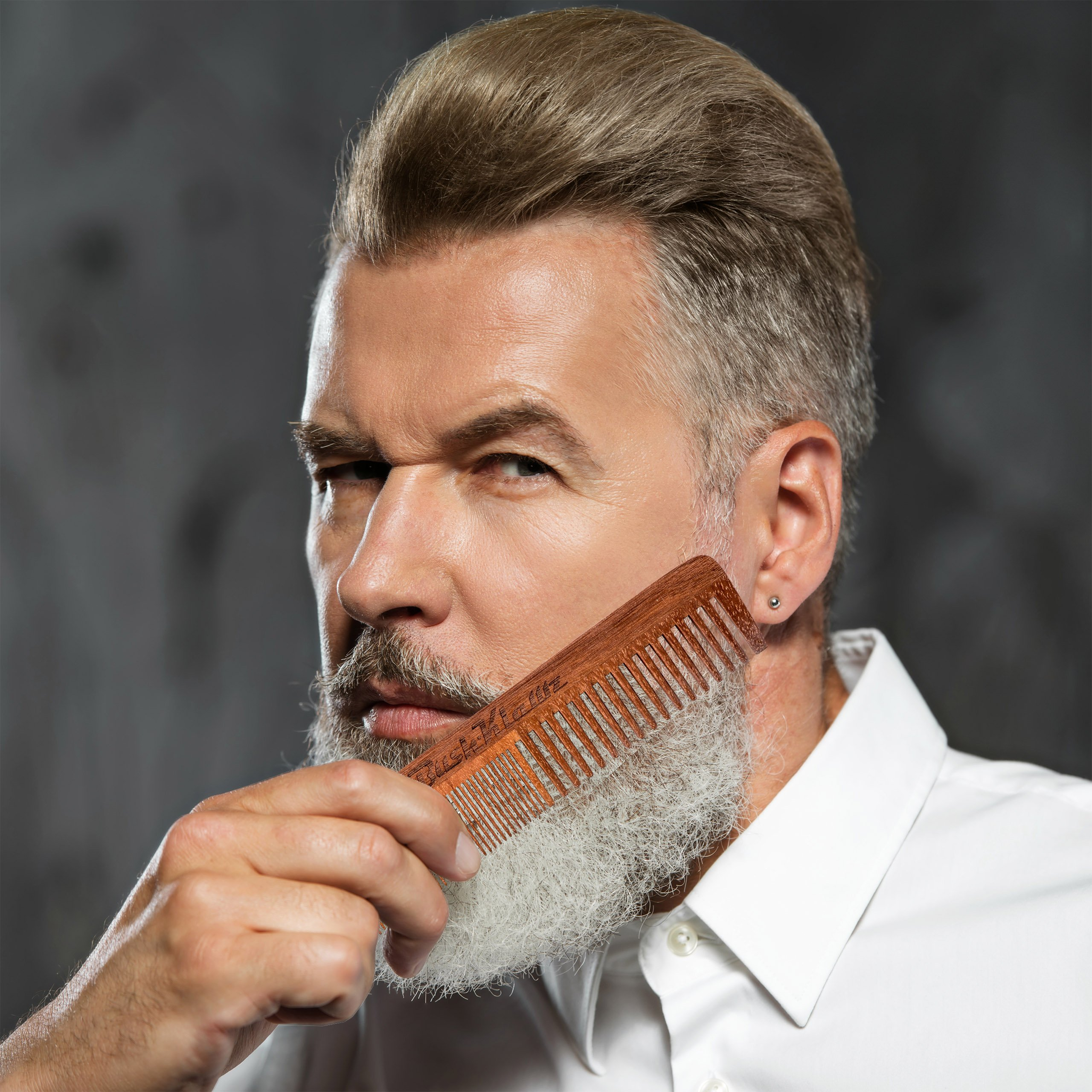 2Klawz Hair Comb for Men - Hair and Beard Comb with Wide and Fine Teeth Full Size 7'' Combination Comb - Best Man Comb Grooming Gift Special Gift For Mens comb Clark Kent Comb by BushKlawz (Image #5)