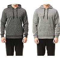 TEXFIT 2-Pack Men's Fleece Hoodies, Pullover Sweatshirt Hoodie