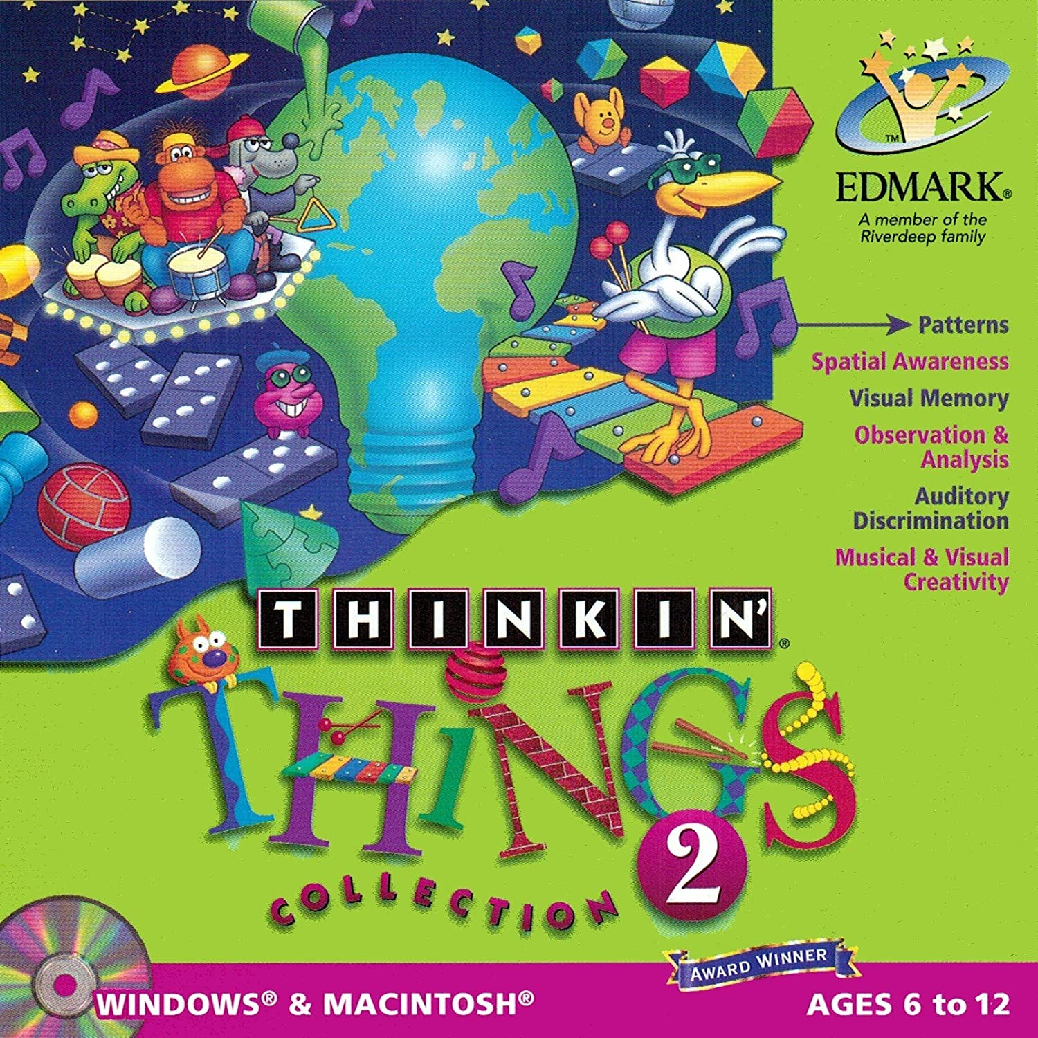 Windows 8 XP Thinking Things Vista 7 95//98 PC Game Collection 2