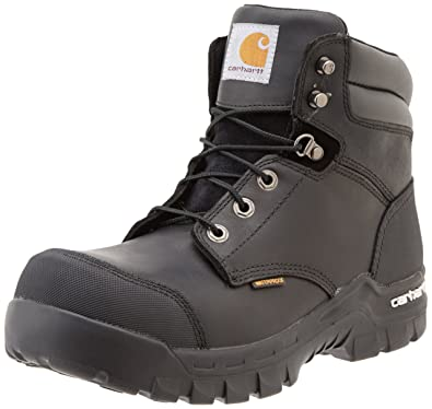 aaf8366a1d27 Carhartt Men s 6 quot  Rugged Flex Waterproof Breathable Composite Toe  Leather Work Boot CMF6371