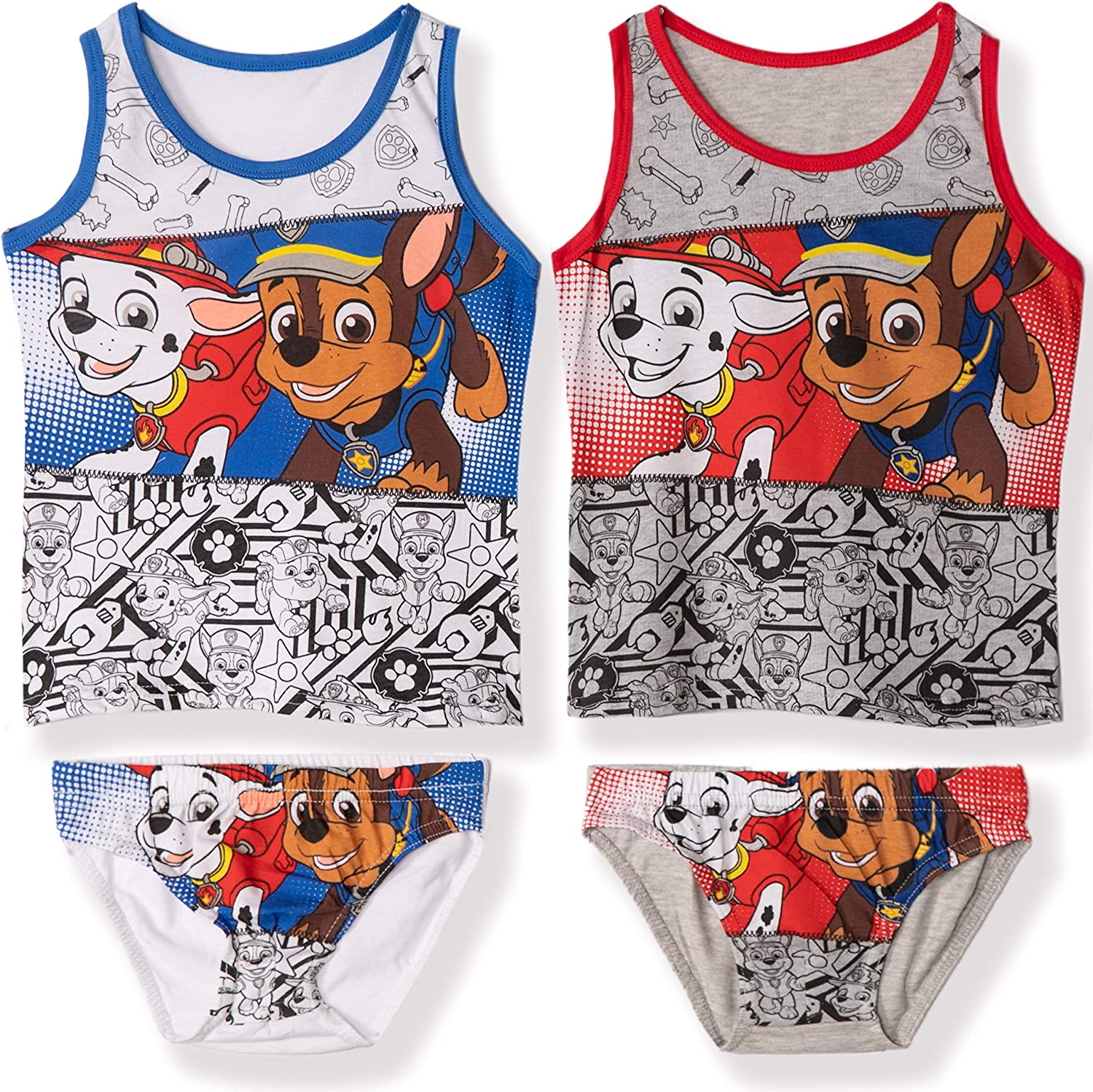 Nickelodeon Paw Patrol Official Boys Underwear Sets 4 PCS Pack 2 Briefs 2-8 Years 2 Vest