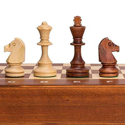 Wegiel Tournament No. 4 Staunton European Wood Chess Set, 16 Inches: Toys & Games