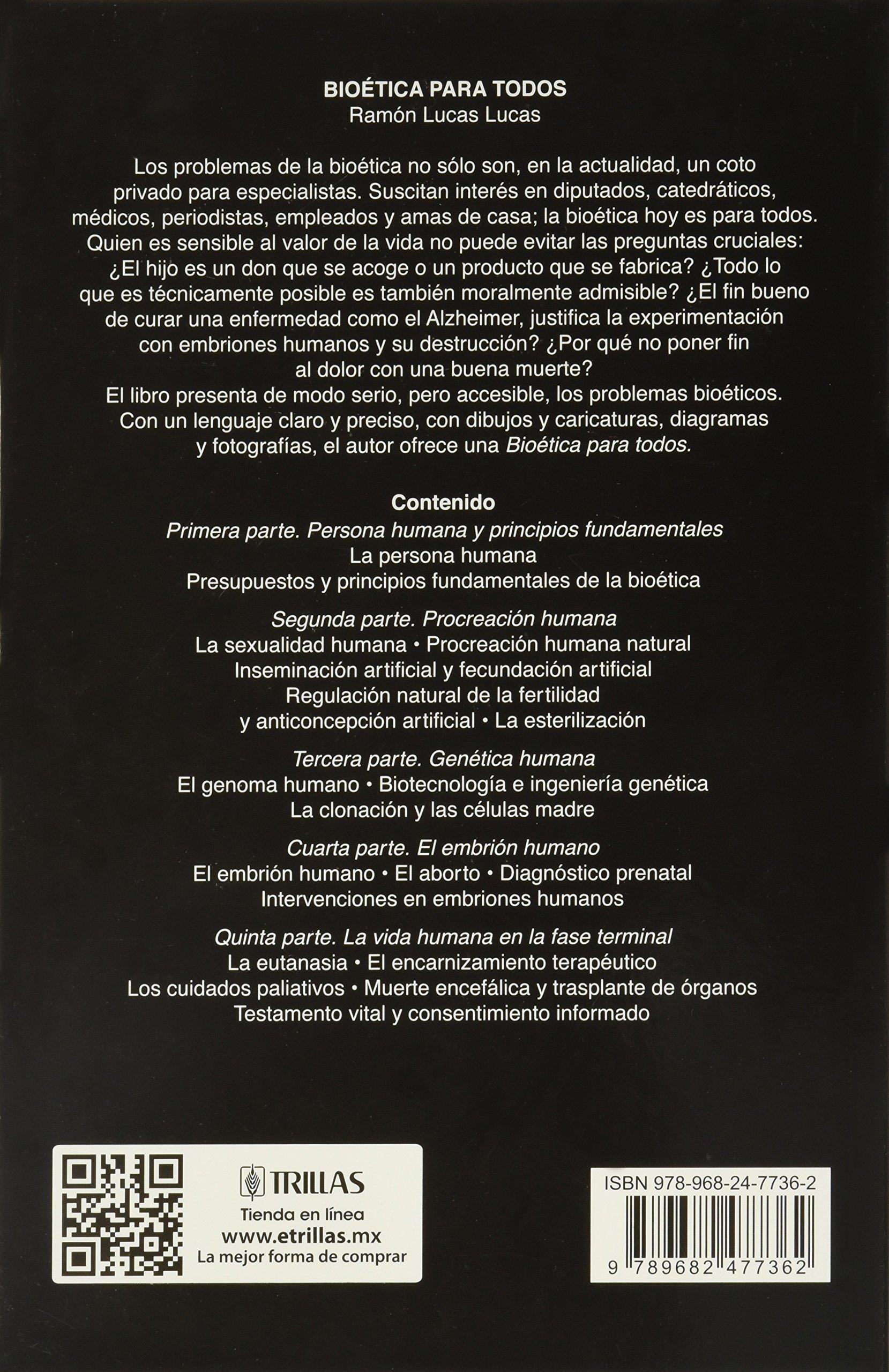 Bioetica Para Todos Ramon Lucas Lucas Editorial Trillas Amazon  # Muebles Segunda Mano Neda