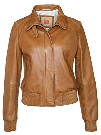 Amazon boss orange lederjacke damen