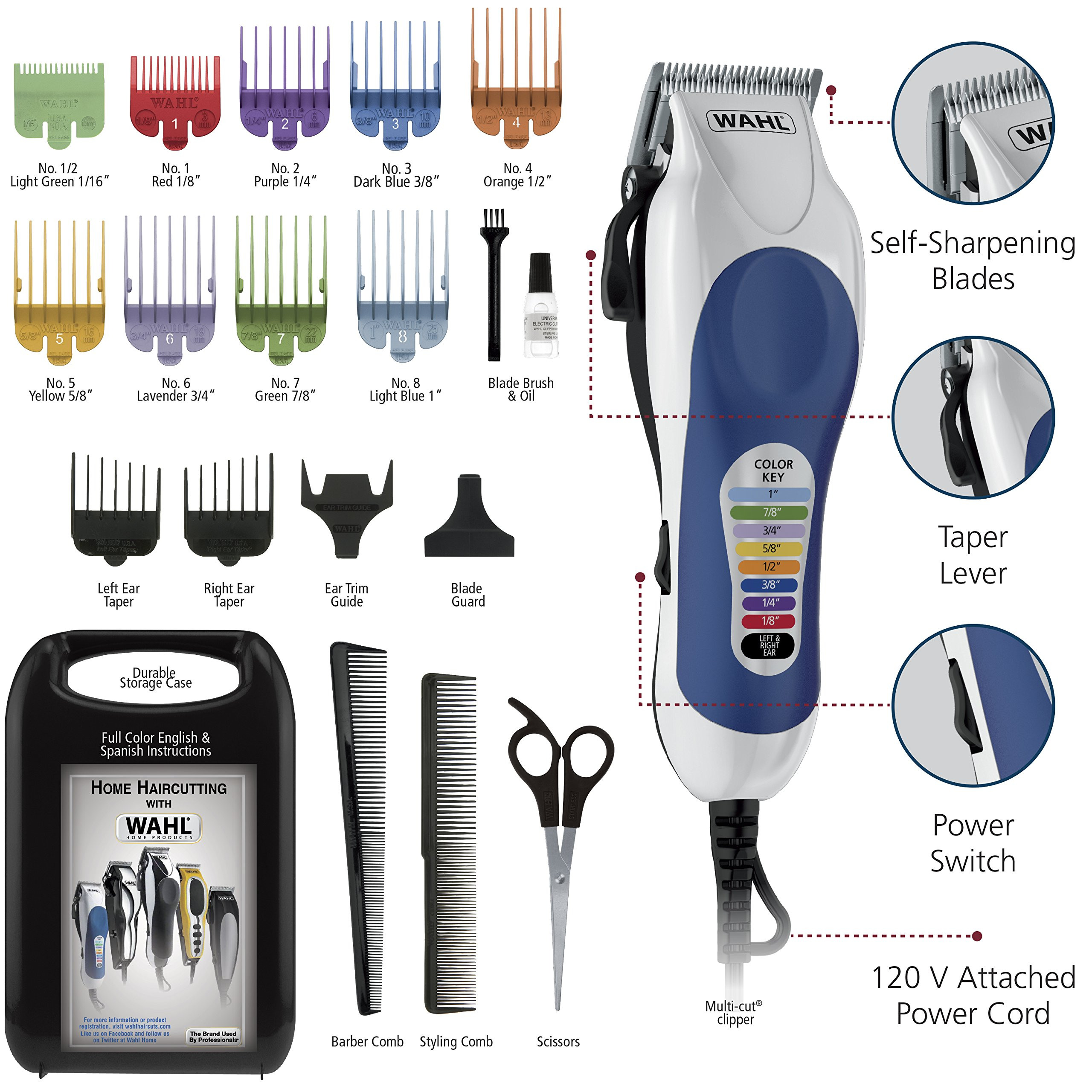 Wahl Color Pro Complete Hair Cutting Kit, #79300-400T by WAHL (Image #5)