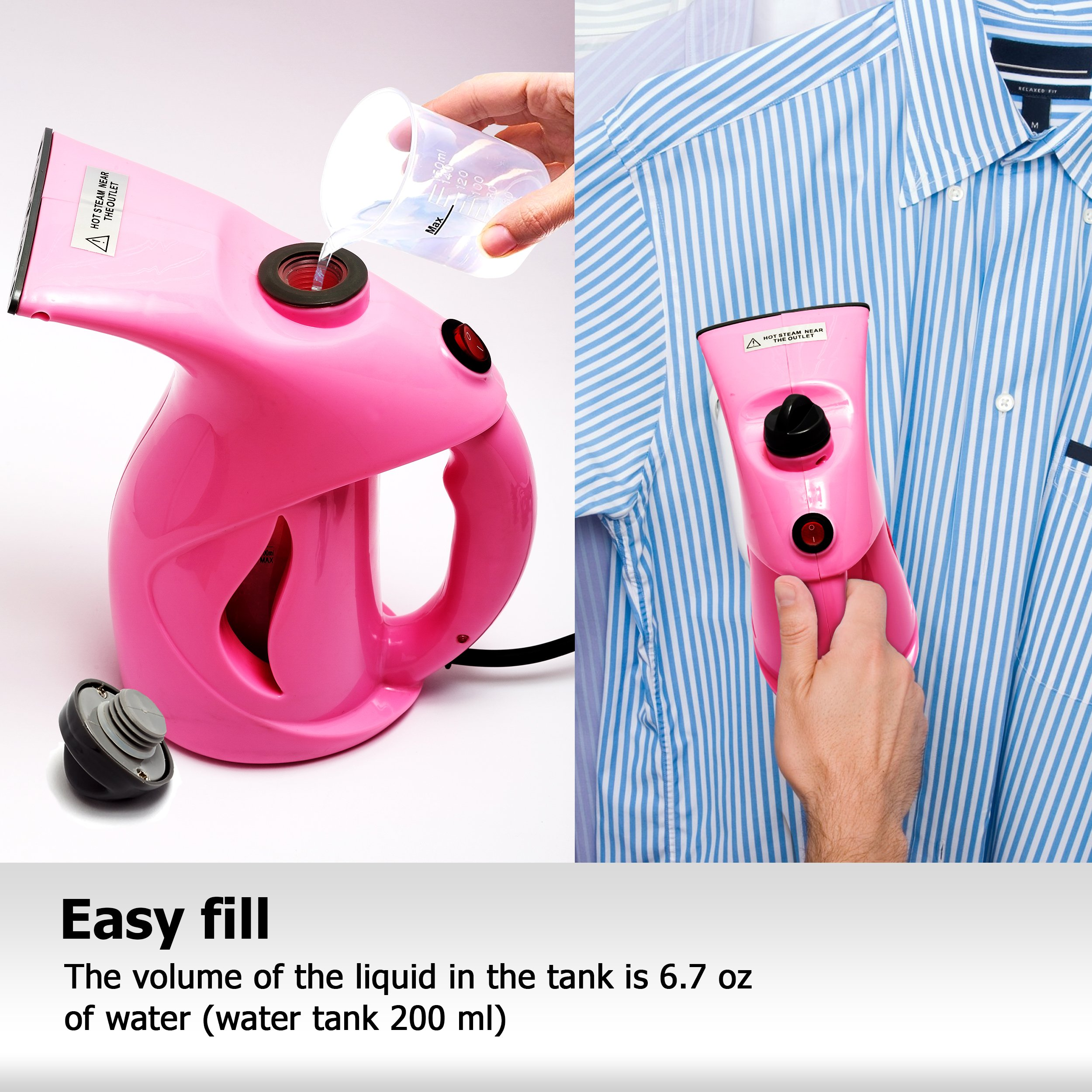 Business100 Portable Steamer, 200ML Portable Garment Steamer, Steamer for Clothes, Heat-up Premium Fabric Steam Cleaner, Safe, Lightweight & Perfect Clothing Steamer for Travel Home by Business100 (Image #6)