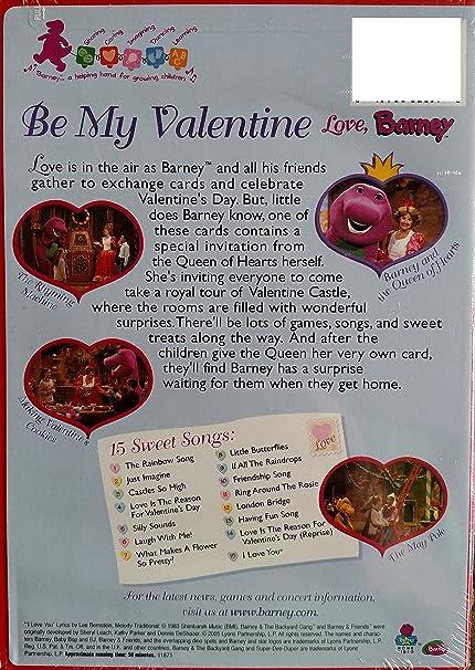 Amazon barney be my valentine love barney movies tv mightylinksfo